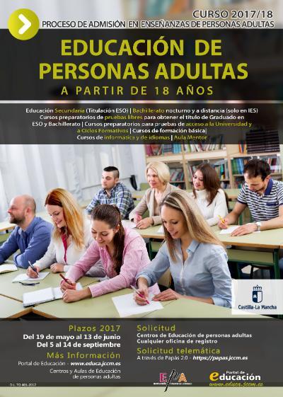 Plazo extraordinario de Solicitud de Admisión en Enseñanzas para Adultos